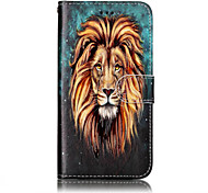 For Huawei P10 Lite P8 Lite (2017) PU Leather Material Lion Pattern Relief Phone Case P10 Plus P10 P9 Lite P8 Lite