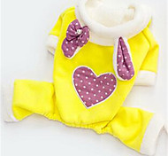 Dog Clothes/Jumpsuit Dog Clothes Winter Hearts Cute