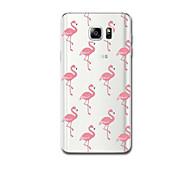 Für Hüllen Cover Ultra dünn Muster Rückseitenabdeckung Hülle Flamingo Weich TPU für Samsung Note 5 Note 4 Note 3
