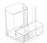 Acrylic Transparent Portable Quadrate Solid Cosmetics Makeup Storage Stand Makeup Brush Pot Holder Cosmetic Organizer for Lipstick Nail Polish