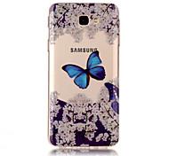 For Samsung Galaxy J7(2017) J5(2017) TPU Material IMD Process Blue Butterfly Pattern Phone Case J3(2017) J7 Prime J3 Prime J710 J7 J510 J5 J310 J3