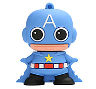 New Cartoon Creative American captain USB 2.0 128GB Flash Drive U Disk Memory Stick