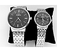 Couple's Dress Watch Chinese Quartz Stainless Steel Band Vintage Silver
