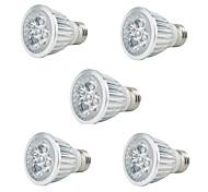 5W E27 Luces LED para Crecimiento Vegetal PAR20 5 LED de Alta Potencia 350 lm Rojo Azul Decorativa AC 85-265 V 5 piezas