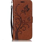 Для samsung galaxy s8 бабочка и цветок тисненый узор pu кожаный материал кошелек функция телефон кейс для s7 edge s7