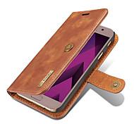 Für samsung galaxy j7 (2017) j5 (2017) case cover card holder wallet mit stand flip magnetischen full body solide farbe hart echtes leder