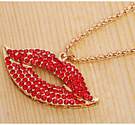 Sexy Flaming Lips Necklace USA Movie Jewelry Pendant Sweater Chain Necklace Women Office Lady Jewelry