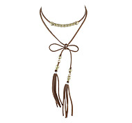 Fashion Tassel Suede Fabric Necklaces