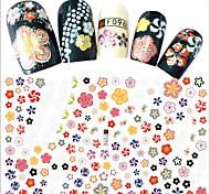 1pcs Fashion Colorful Flower Decoration Nail Art DIY Beauty 3D Stickers Creative Beautiful Flower Design F096