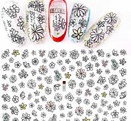 1pcs Fashion Nail Art Beautiful Flower 3D Stickers Black Flower Design Nail DIY Beauty Decoration F081