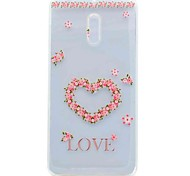 For Nokia 6 Case Cover Transparent Pattern Back Cover Case Flower Soft TPU Case