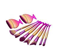 9pcs Conjuntos de pincel Pêlo Sintético