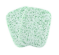 Natural Wood Pulp Fiber Round Beauty Exfoliating Scrub Clean Face Powder 2 Tablets