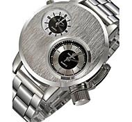 Men's Sport Watch Fashion Watch Quartz Alloy Band Black Silver