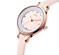 Women's Fashion Watch Japanese Quartz Water Resistant / Water Proof Leather Band Black White Blue Brown Pink