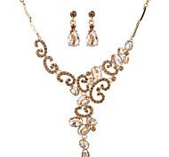 Per donna Set di gioielli Di tendenza Euramerican Lega goccia 1 collana 1 paio di orecchini Per Feste 1 Set Regali di nozze