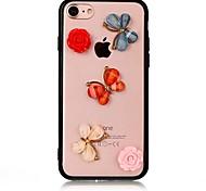Случай для яблока iphone 7 7 плюс iphone 6s 6 плюс крышка случая бабочка с акриловыми случаями