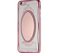 Case for Apple iPhone 7 7Plus Glitter Shine Lace Printing Mirror Pattern Soft TPU Back Cover for iPhone 6s Plus e 6 Plus  6s  6