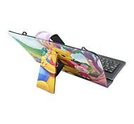 iPad Case with Keyboard USB English Version 7-8 inch Universal Cartoon Animal  PU leather Case For IPAD Mini123 Mini4
