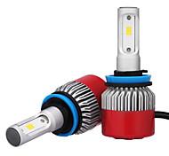 2pcs faro 72 h8 h9 h11 7200LM csp LED W LED bombilla del faro de coche de la luz de niebla 6500 k 12 v