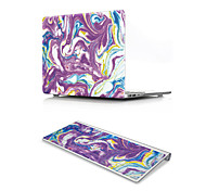 For MacBook Air 11 13 Pro Retina 13 15 Macbook 12 Case Cover PVC Material Oil Painting Marble with US Silicone Keyboard Protector