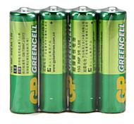 Batteria ricaricabile della batteria del carbonio della batteria del carbonio di gp verde 15g r6p aa 1.5v