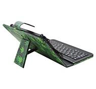 Назначение Чехлы панели со стендом с клавиатурой Флип С узором Чехол Кейс для Плитка дерево Твердый Искусственная кожа дляApple Samsung