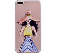 for iPhone 7 Plus 7 Case Cover Ultra-thin Transparent Pattern Back Cover Case Fashion Girl Soft TPU for 6s Plus  6 plus 6 SE 5S 5