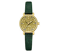 Women's Fashion Watch Bracelet Watch Quartz Water Resistant / Water Proof Leather Band Sparkle Casual Black Blue Brown Green Khaki