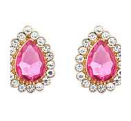 European and American fashion dazzle colour beautiful drop earrings