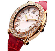 Women's Fashion Watch Japanese Quartz Water Resistant / Water Proof Leather Band Black White Red Gold