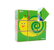 Bausteine Holzpuzzle Für Geschenk Bausteine Quadratisch 3-6 Jahre alt Spielzeuge