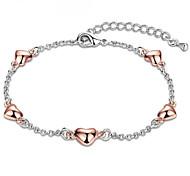 Heart Love Women's Chain Bracelet Elegant Lady Valentine Birthday Gift Jewelry
