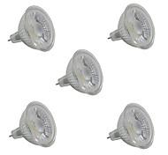 5W LED Spot Lampen MR16 1 COB 380-420 lm Warmes Weiß Weiß V 5 Stück