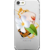 Для iphone 7 плюс 7 чехол для крышки экологически чистый прозрачный шаблон задняя крышка чехол сексуальный леди цветок мягкий tpu для