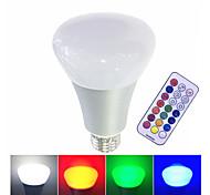 10W Умная LED лампа Высокомощный LED 500 lm Тёплый белый RGB Белый Диммируемая На пульте управления V 1 шт.