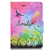 SZKINSTON Smile Case Cover Shockproof with Stand Sleep Magnetic Pattern Full Body PU Leather For All 7.0 - 8.0 Inch Mobile Phone or Tablet