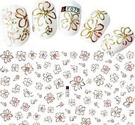 1pcs Fashion Beautiful Decoration Nail Art DIY Beauty Flower 3D Stickers Beautiful Flower Design F079
