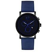 Мужской Модные часы Китайский Кварцевый PU Группа Повседневная Черный Синий Красный