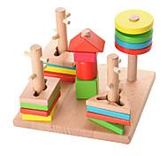 Игры с последовательностью Для получения подарка Конструкторы Натуральное дерево 3-6 лет Игрушки