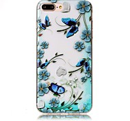 For iPhone 7 Plus 7 Embossed Butterfly Flower Pattern High Quality TPU Soft Phone Case 6 Plus 6S 6 SE 5
