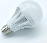 1pcs 7w e27 датчик движения лампа 500-600lm 30smd 2835 прохладный белый умный контроль освещения звука светодиодные лампы ac220-240v