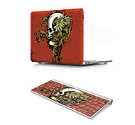 For MacBook Air 11 13 Pro Retina 13 15 Macbook 12 Case Cover PVC Material Oil Painting Cool Skulls with US Silicone Keyboard Protector