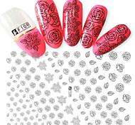 1pcs Fashion Beautiful Rose Design Nail Art DIY Beauty 3D Stickers Charming Flower DIY Decoration F109