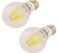 7W Lampadine globo LED 6 COB 600 lm Bianco caldo V 2 pezzi