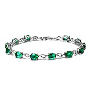 Women's Chain Bracelet Emerald Natural Fashion Emerald Alloy Circle Jewelry 147 Wedding Party Birthday Event/Party