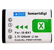Ismartdigi BX1 3.7V 1240mAh Camera Battery for Sony RX100IV M4 3 2 X1000V RX1R WX500 HX90