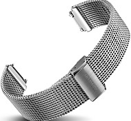 For Huawei Watch Band Strap Solid color Silver Stainless Steel Sport Band