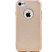 Для iphone 7 7 плюс масляная поверхность tpu металлизированная кнопка и камера металлическая защита мягкий телефон корпус 6 с плюс 6 плюс
