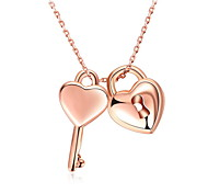 Pendant Necklaces Love Heart Women's Girls' Choker Chain Alloy Dangling Gift Jewelry for Valentine